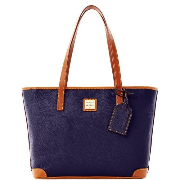 Dooney & Bourke Midnight Blue Pebble Grain Bag